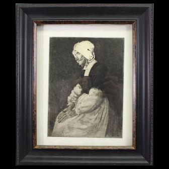 Mortimer Menpes-Mother of Pont Aven