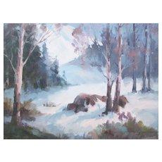 """Listed artist Joyce Pike-""""Winter Scene"""""""