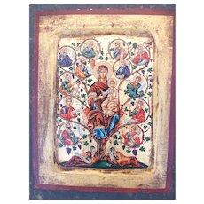 "Russian Icon - ""The Tree of Jesse""(free shipping)"