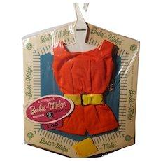 Vintage Barbie PAK fashion red romper w/ belt