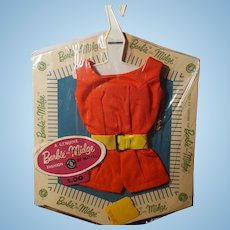 Vintage Barbie PAK fashion red romper w/ belt