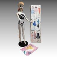 VINTAGE #3 Ponytail Barbie doll with Blue eyeliner