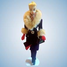 Vintage #3 Blonde ponytail Barbie w/brown liner