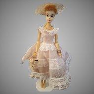 VINTAGE #3 Blonde ponytail Barbie Doll with brown liner