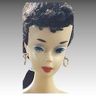 VINTAGE #3 Ponytail Brunette Barbie doll with Blue eyeliner