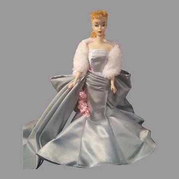 VINTAGE #3 Blonde ponytail Barbie Doll with Blue liner