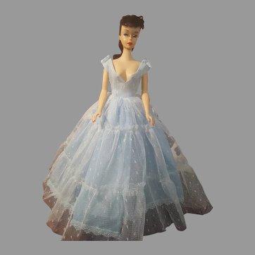 VINTAGE #3 Brunette Barbie Doll with blue liner