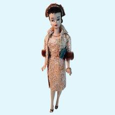 VINTAGE #3 Brunette Barbie Doll with brown liner