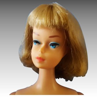 American Girl Barbie long hair silver Ash Blonde
