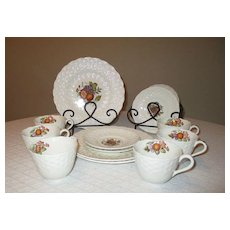 Early Century Copeland Spode Dinner Plates, Cups & Saucers