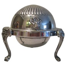 Silver Dome Covered Butter/Caviar Dish - Late 1800's