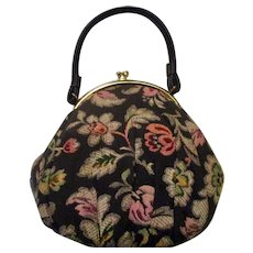 Vintage 1950's Dover Tapestry Handbag in Mint Condition with Original Packing and Tags