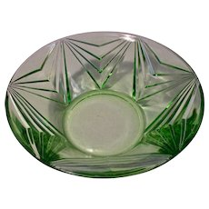 Vintage Indiana Glass Pyramid #610 Art Deco Fruit Bowl 1926 -1932