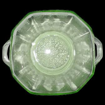 "Princess Green 4 1/4"" Glass Berry Bowls Circa 1930's"