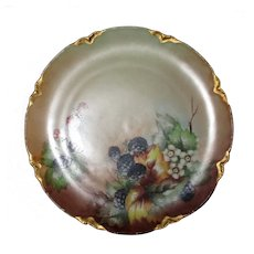 Haviland France Fruit Motif Hand Painted Cabinet Plate Circa 1880's