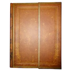 Hand Tooled Old Leather Lined Journal with Magnetic Closure