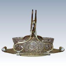 Vintage Silver Plate Circa 1800's Preserve Pot