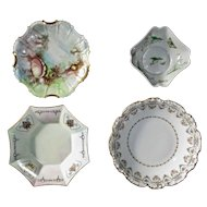Vintage Assorted Collection of French Limoges Hand Painted Porcelain Dishes
