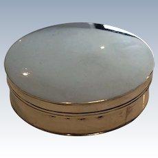 1814 Dublin Irish silver/tobacco snuff box by Daniel Egan