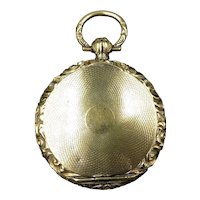 Antique Georgian Embossed Rolled Gold Watch Case Locket Pendant | Circa. 1830