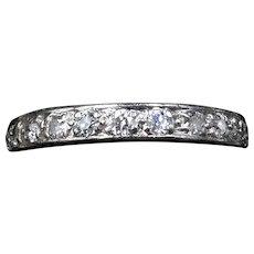 Art Deco Old Cut Diamond Platinum Full Eternity Band Ring