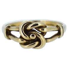Vintage Lovers Knot 9ct 9K Yellow Gold Ring Band