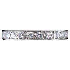 Art Deco Old Cut Diamond Platinum Full Eternity Band Ring Circa. 1920