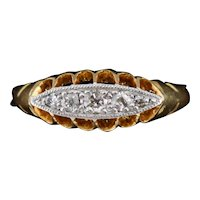 Antique Old Cut Diamond Five Stone 18K 18ct Yellow Gold Buttercup Ring