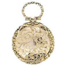 Antique Repousse Embossed Gold Locket Pendant Georgian