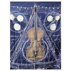 HERMES silk Scarf la Musique Des Spheres