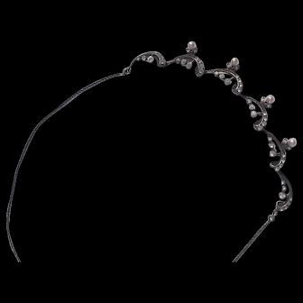 Antique paste necklace in 925 silver