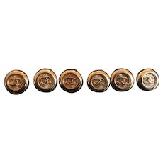 6 vintage CHANEL buttons