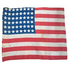 American parade flag liberation France 1945