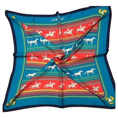 "HERMES silk Scarf "" Sequences"""