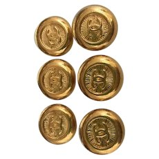 6 vintage Chanel buttons CC