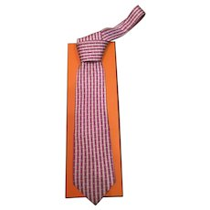 Vintage HERMES tie 5412 OA  WITH the box