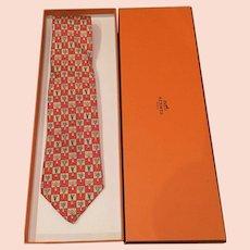 Vintage HERMES tie   vegetables WITH the box