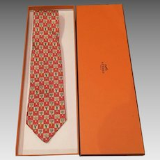 Vintage HERMES tie   vegetables WITH the box