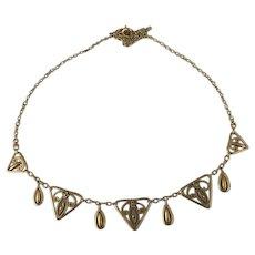 French Art Nouveau 18 K gold fill  FIX  necklace