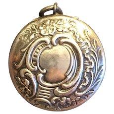 French 1900 silver box locket