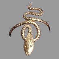 XIX century  French 18K gold snake elongated Ring