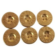 6 Chanel buttons simple