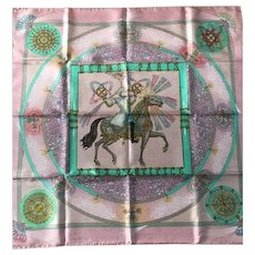 Vintage HERMES silk Scarf Feux d'artifice NEW