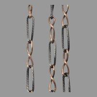 Antique Niello  900 necklace muff chain 30 inches
