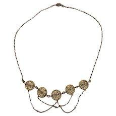 Art Nouveau Gold fill Necklace