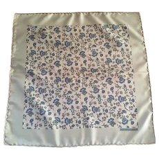 Hermes silk Pochette Scarf flowers