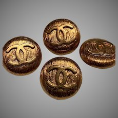 4 extra large vintage Chanel buttons 25 mm