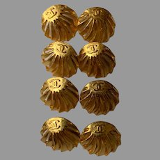 8 vintage Chanel buttons 14mm