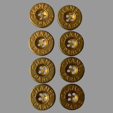 8 vintage Chanel buttons 16 mm