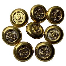 8 vintage Chanel buttons 18 mm